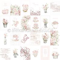 Papier - Card sheet rose flower arrangements