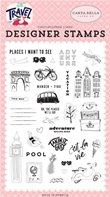 Clear Stamp - Let's Travel -Adventure begins here