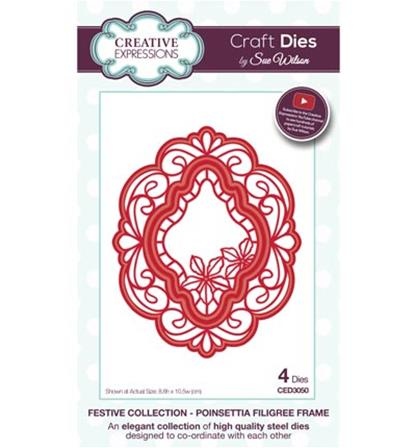 Craft Dies -Poinsettia Filigree Frame