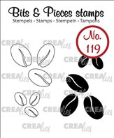 Crealies clear stamp - Grain de café