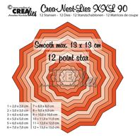 Crea-Nest-Lies- XXL - 12 pointes star