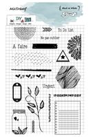 Clear stamp - Black & white