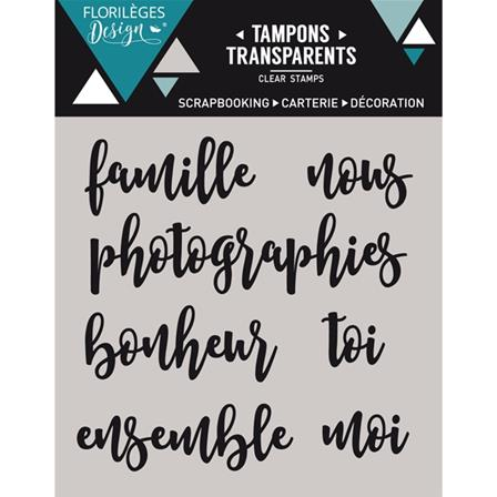 Tampon Clear - Petits mots 1