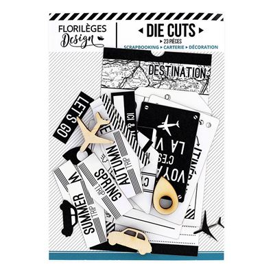 Die Cuts - Ticket Voyage - blanc