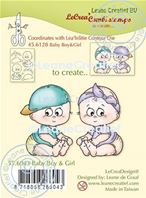 Clear stamp - Baby Boy & Girl