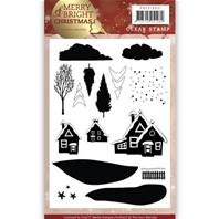 Clear Stamp - Merry&Bright Christmas