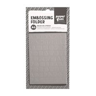 Embossing Folder - Paper Fuel - Solid as a rock