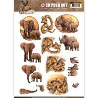Papier 3D - Wild Animals - Elephant