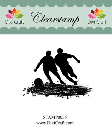Clear stamp - Playing Football