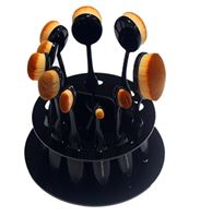 Holder for blending brushes