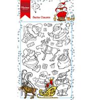 Clear stamp - Santa Clauses