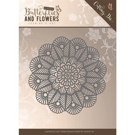 Die - Butterflies and Flowers - Doily