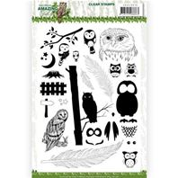 Clear stamp -Amazing Owls