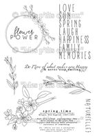 Clear stamps - Flower Power