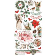 Chipboard stickers - Country Christmas