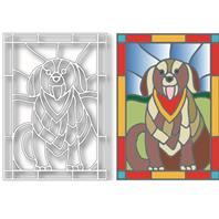 Die - Dog Stained Glass