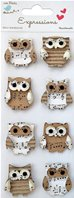 Stickers 3D - Hibou