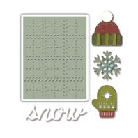 Thinlits & Embossing Folder - Snow