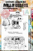 Clear stamp-A5-#396-Sewing Forever