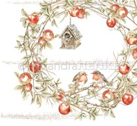 Papier - Robins in an Apple Wreath