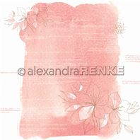 Papier - Abstract Watercolours - Amaryllis coral