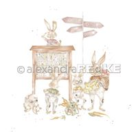 Papier - Happy Easter - Hiking bunnies
