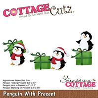 Cottage Cutz - Penguin with present