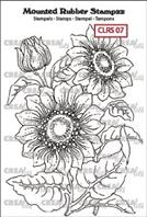 Crealies - Rubber stamp - Sunflower