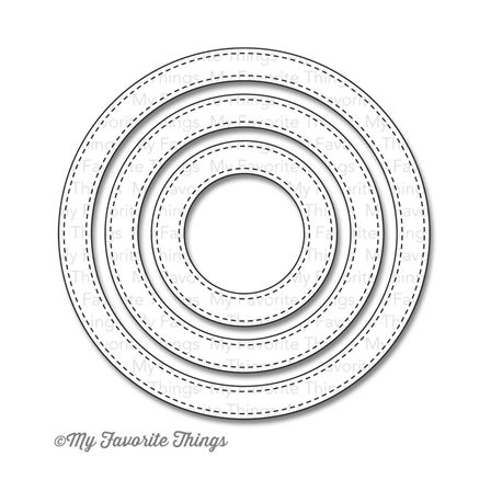 Die-namics - Stitched Circle Frames