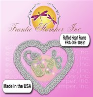 Die - Ruffled Heart Frame
