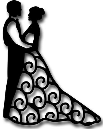 Die - Bride and Groom Silhouette