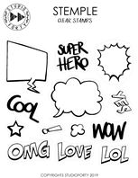 Clear stamps - Super Hero