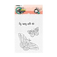 Clear stamp - Sweet Flowers - Fly