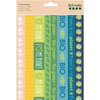 3 feuilles de Masking tape - Save the planet