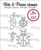 Crealies Clear Stamp - coccinelles