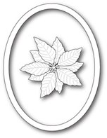 Die - Decorative Poinsettia Oval