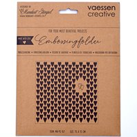 Embossing Folder - Hearts Long