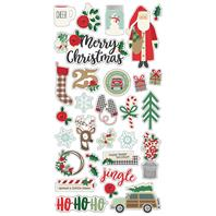 Chipboard Stickers - Merry &Bright