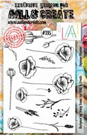 Clear stamp-A5-#395-Papaver poppies
