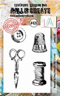 Clear stamp-A7-#439-Sewing kit