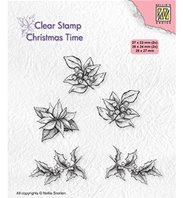 Clear stamp - Poinsetta