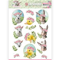 Papier 3 D - Spring is Here - Baby Animals