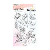Clear stamp - Blooming - 04