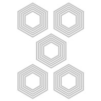 Thinlits - Stacked Tiles Hexagons