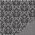 Papier - Basics - Black Damask