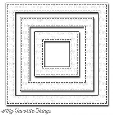 Die-namics - Stitched Square Frames