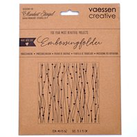 Embossing Folder - Lines with Hearts