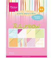 Pretty Papers bloc - A4 - Rainbow