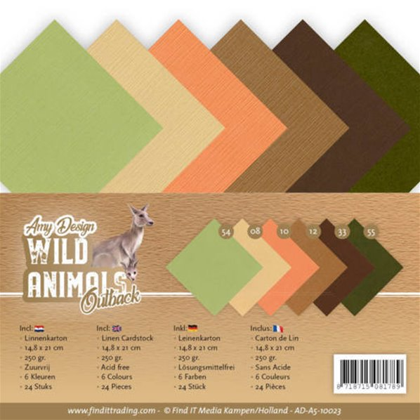 Lot de cartes A5 - Wild Animals