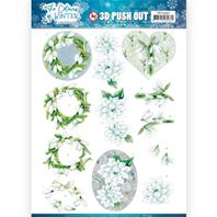 Papier 3D - The Colours of Winter - White winter flowers